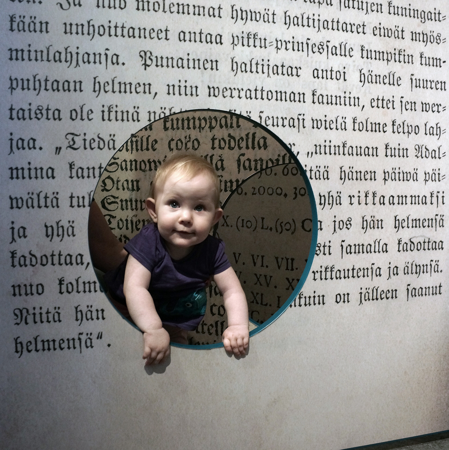 Ava Sofia at the Book Museum. Sastamala, Finland. July, 2012