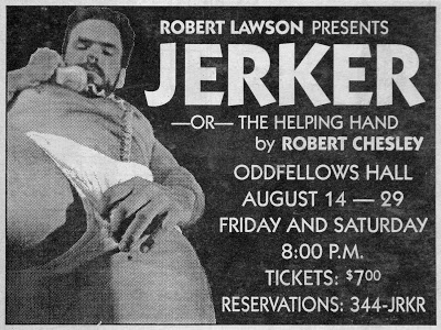 Jerker ad for Robert Lawson. Photography and Design. Early 1990s